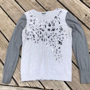 Express leopard sequin sweater